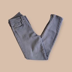 """L'agence Margot Ankle Zip High Rise Skinny Jeans Gray """"Gris"""""""